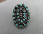 Reserved for Aida,  Vintage, silver and turquoise, Native American or Mexican, ring