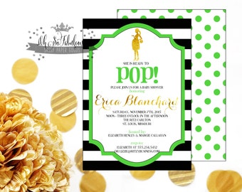 About To POP // Baby Shower Invitation // Gender Neutral /// PRINTABLE