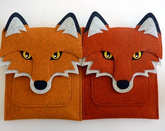 Fox Fire tablet case for Fire, HD 6, HD 8, HD 10 - Felt ereader case