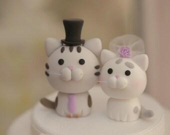 cat wedding cake topper, kitty Wedding Cake Topper