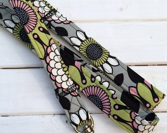 Gray Floral Dog Leash