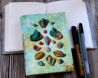 seashells inspire journal - travel vacation journal, vintage flair journal