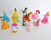 Disney Pretty Princess PVC and their Pets figurines Disney cake toppers Busy Books figures, craft party supply favors cupcake toppers