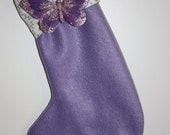 Lavender Butterfly Stocking for Christmas