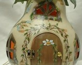 Gourd Light Up Fairy Spring Garden Cottage - Hand Painted