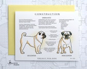 Project Pug Dog (Fawn Color) - Blank Architecture Construction Card
