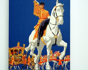 Royal Hand Cut Paper Art. Great Britain. United Kingdom. Royalty. Pomp and Circumstance. Carriage. Home decor. Gift for him or her