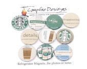 STARBUCKS FRAPPUCCINO Lover's Refrigerator Magnets Flair Badges or Buttons
