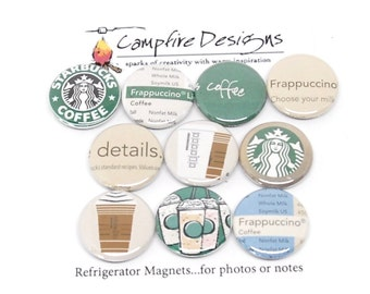 STARBUCKS Magnets FRAPPUCCINO Lover's Refrigerator Magnets