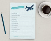 Wishes for Baby Airplane Printable