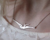 Sterling Silver Bird Swallow Necklace