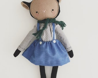 "RESERVED - SALE! the foundlings | handmade cloth lamb doll | ""olive"""