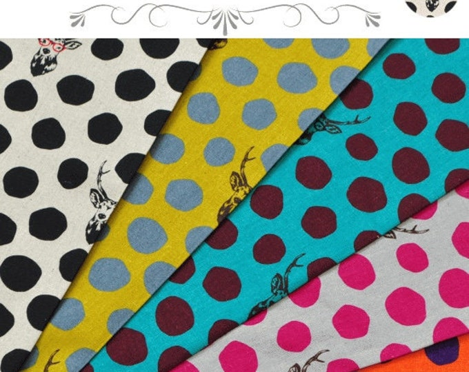 ECHINO by Etsuko Furuya 10th anniversary  - Buck and Dots EF604, fat quarter set of 5