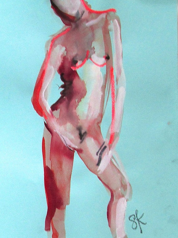 Nude painting#1322  Original painting by Gretchen Kelly