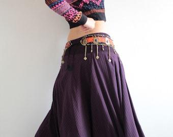 For a change pants...Plus Size .. wool mix cotton  (shirring smock) M (266)