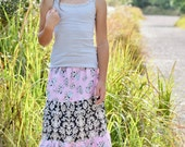 Girl's Maxi skirt - Maxi skirt - Toddler maxi skirt - Girls long skirt - boho maxi - boho skirt - bohemian skirt - hippie skirt- girls skirt