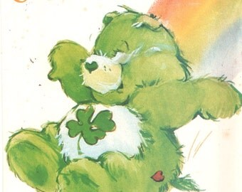 Butterick 6233 1980s GOOD LUCK BEAR  Care Bear Pattern Vintage Stuffed Toy Animal Sewing Pattern 17 Inches UNCuT