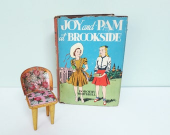 Joy and Pam at Brookside, 1929 Book by Dorothy Whitehill, Will Ely Dust Jacket Illustration, Whitman Publishing
