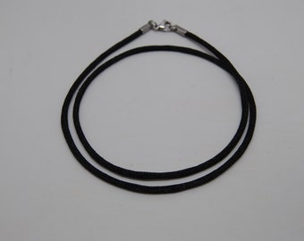 "Black Satin Cord Necklace 18"" or 20"" Lobster Clasp Necklace Cord Cords"