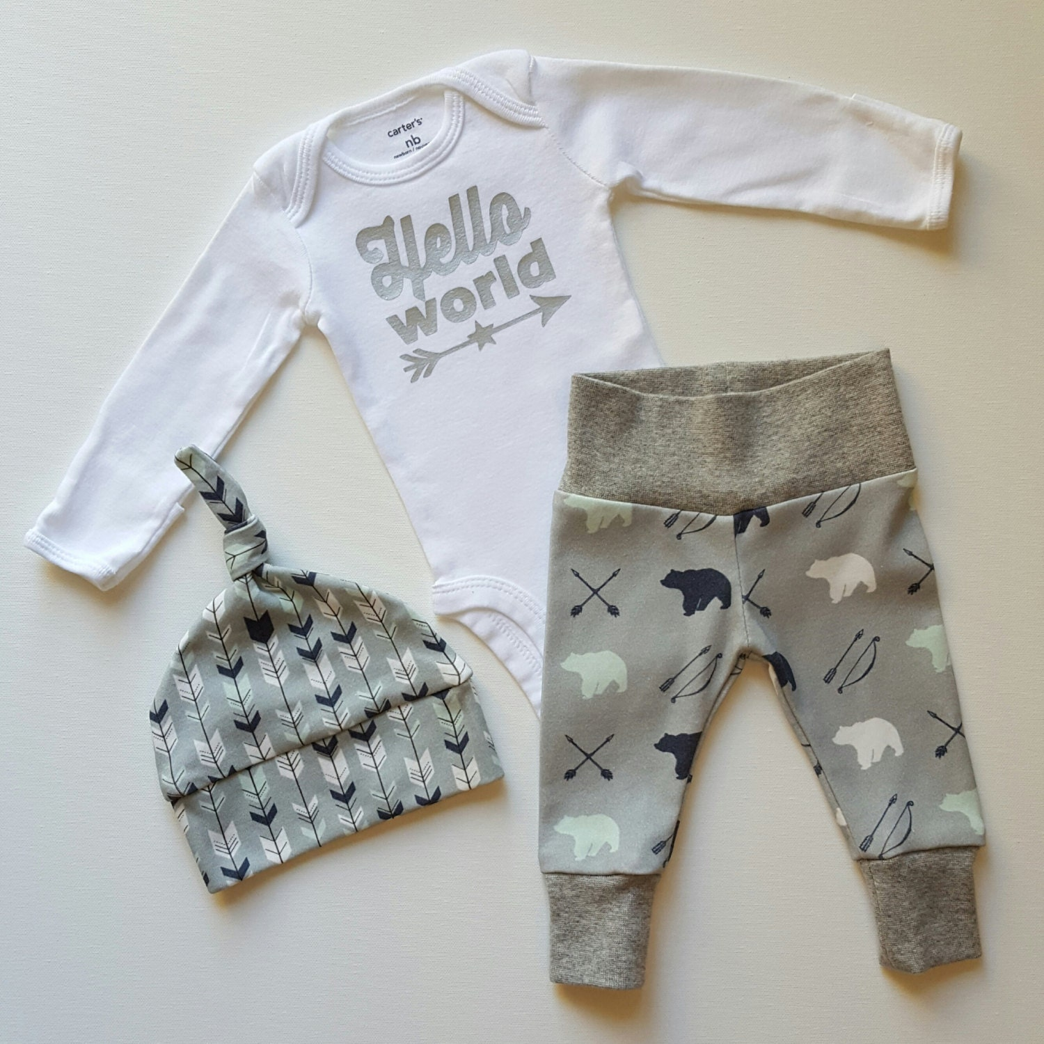 Product Info. Looking for something cuddly and cute to bring home baby boy in? This newborn take home set will do the trick! This listing includes.