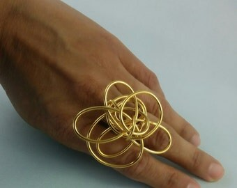 Swirls Rings Series - 24kt Gold Plated - GPRG0002