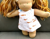 Doll Dress - Fish and orange