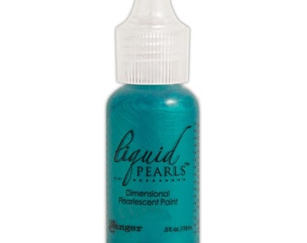 PEACOCK Ranger Ink Liquid Pearls Dimensional Pearlescent Paint .5oz Glue Paint Fabric Paint Embellish Paint