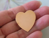 Vintage 12K Gold Filled HEART Brooch Pin Hallmarked 1/20 12K Maker Mark is V Inside A Circle
