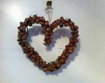 Acorn Wreath, Heart-Shaped