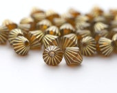 Acrylic Beads Topaz Gold Fluted Bicone Beads 8mm (30)
