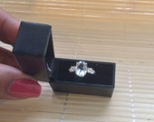 Black Mini Engagement Ring Box