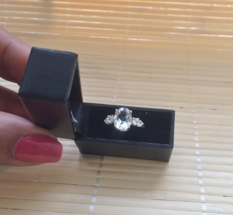 Black Mini Engagement Ring Box