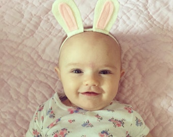 White Rabbit Headband for Baby