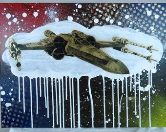 X-Wing Fighter 18x24 Screenprinted Wall Art