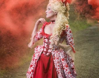 Zombie Costume, Vampire Costume, Blood Splatter Costume, Halloween Costume, Women's Costume, Marie Antoinette, Zombie Marie Antoinette