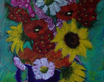 Plein O' Joy an Original Acrylic Painting by Joan Princing Art