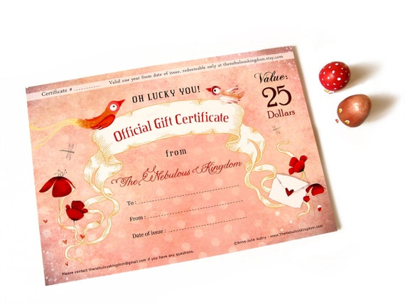 25 Dollar Gift Certificate Christmas Birthday Special