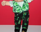 Cabbage Patch Kids  Doll Clothes St Patricks Day Boy Set   16 Inch Doll Clothes Vintage Classic