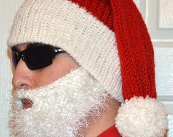 Santa Hat - Adult Size, Santa Claus Costume Hat, Christmas Clothing, Santa Claus Hat, Adult Santa Hat, Santa Beanie