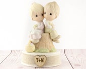 """Personalized Precious Moments ®  """"Love One Another"""" Wedding Cake Topper - 101376"""