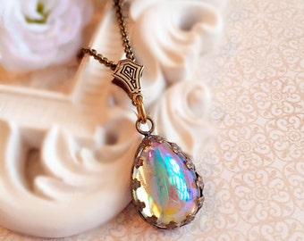 Looking Glass Jewelry - Victorian Necklace - Best Jewelry Gift - Victorian Jewelry - Aurora Borealis Jewelry - ASHFORD Looking Glass