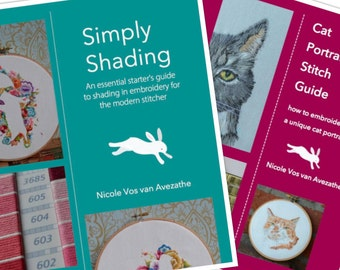 Cat Portrait Stitch Guide & Simply Shading e-book deal