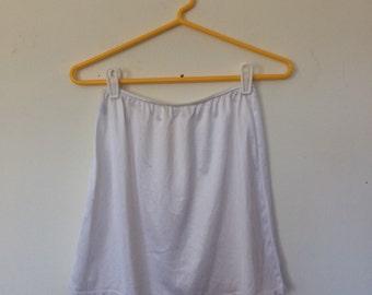 White Mini Slip Skirt S M