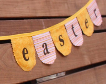 Happy Easter fabric bunting, Spring Decor, Easter decoration, Easter Decor, Easter banner