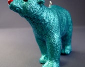 Glitter Menagerie Polar Bear Ornament