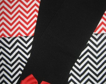 baby legwarmers Black with bow