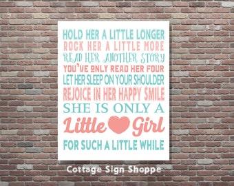 Girls Nursery Decor, Nusery Wall Art, 8 x 10, 11 x 14, 16 x 20, INSTANT DOWNLOAD, Girl Baby Shower,Newborn Girl Gift Ideas,Girls Nursery Art