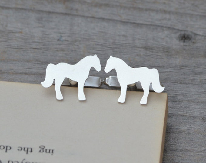 Horse Cufflinks In Solid Sterling Silver, With Personalized Message On The Backs, Handmade In The UK