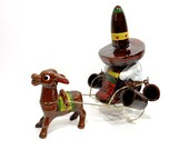 Vintage Liquor Bottle Decanter Set Donkey Burro Sombrero Pottery Shot Glasses Wire Cart Japan Collectible Bottle PeachyChicBoutique on Etsy