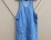 90s vintage Overall Denim Jean Dress / Denim Jumper